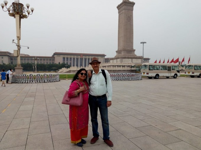 At Tienanmen Square, Beijing, June 18
