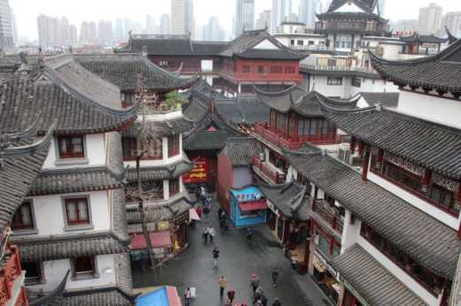 Rooftops of Old Town Shanghai.