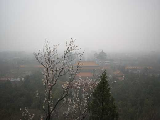 Forbidden City from Jingshan park across the street