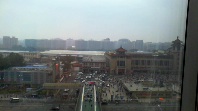 Recommend Howard Johnson Hotel. Room is great.  Staff are great.  Breakfast was great.  Right across from Bejing Railway Station.  Air pollution was moderate - thank goodness.