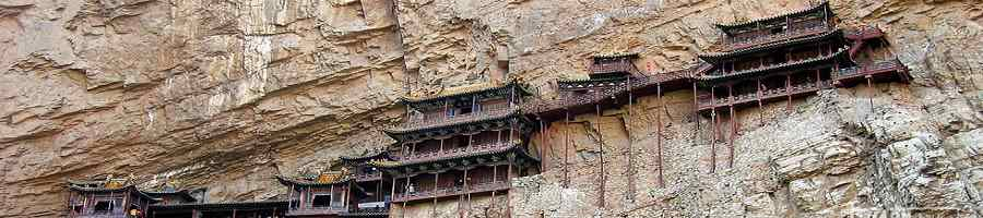 Hanging Temple in Hengshan Mountain