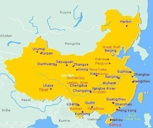 Tours around china long journey tours visit many destinations in one