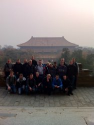 the Tiananmen Square with guests