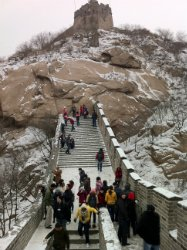 Great Wall with little snow
