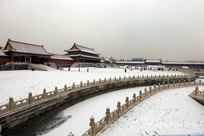 Snow view of the Imperial Palace
