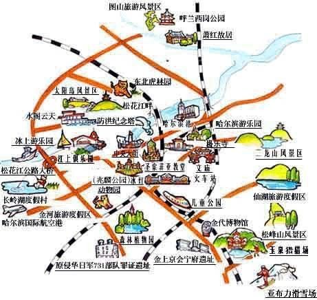 Harbin Teavelling map