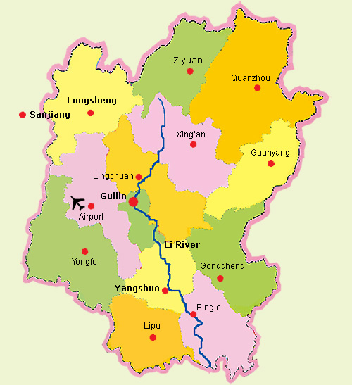 guilin-district-map