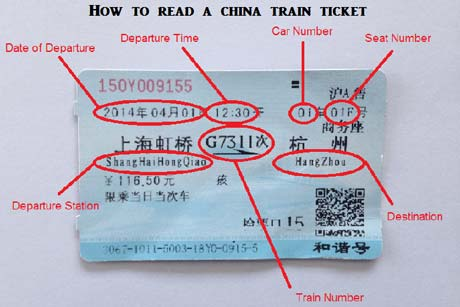 Read a china train ticket